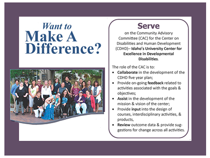 Consider serving on the Community Advisory Committee for CDHD.