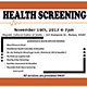 Attend the free November 16 community health screening in Nampa at the Hispanic Cultural Center of Idaho.