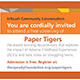 Information on screening of Paper Tigers documentary.