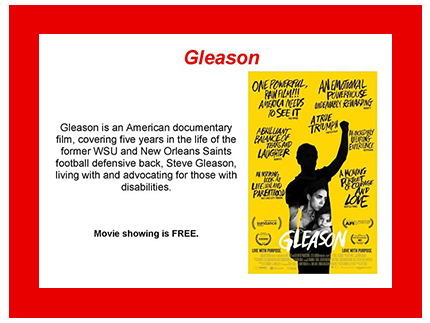 Free showing of the film Gleason at the Kenworthy Theater on April 28 at 7 pm.