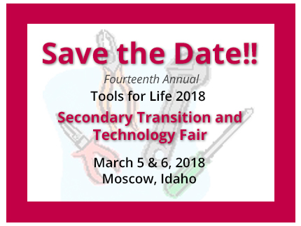 Save the Date for the 14th Annual Tools for Life in 2018.
