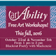 Information on second art ability workshop offered on October 22 and November 5.