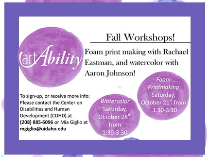 Fall Art Ability workshops for 2017 are available for registration.