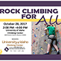 Register for the Rock Climbing for All Event.