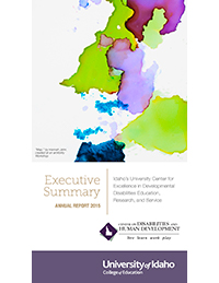 Cover page of 2015 CDHD Executive Summary Annual Report.