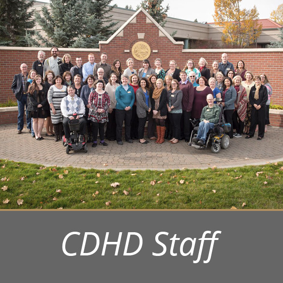 CDHD staff posing for an all staff photo.