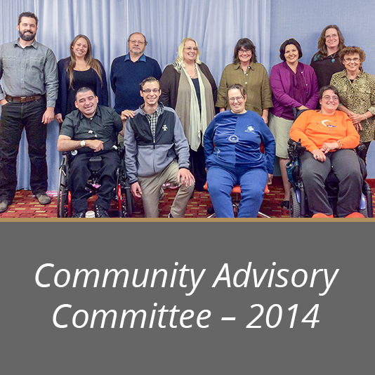 Members of the 2014 Community Advisory Committee.