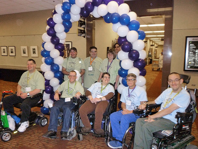 Idaho SALN members posing for a group photo at the 2013 Disability Advocacy Day conference.