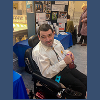 SALN member Noll Garcia at Disability Advocacy Day in 2015.