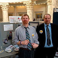 SALN members manning the booth at the Disability Advocacy Day in Boise in 2013.
