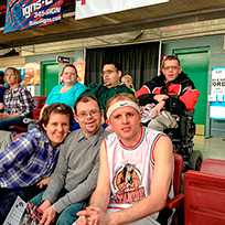 SALN members attend a basketball game in 2014.