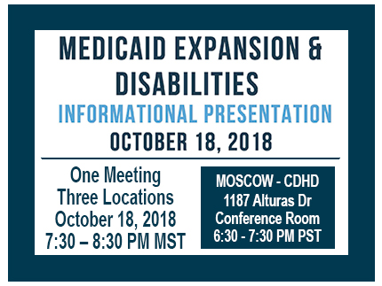 Announcing the informational presentation on Medicaid Expansion & Disabilities.