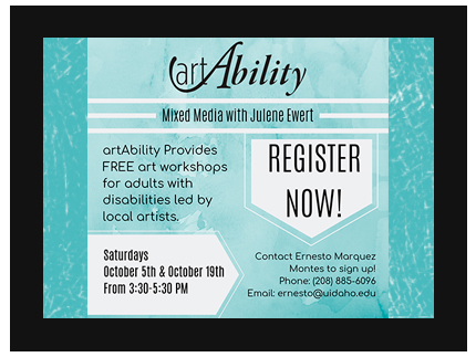 Fall Art Ability workshops for 2019 are available for registration.