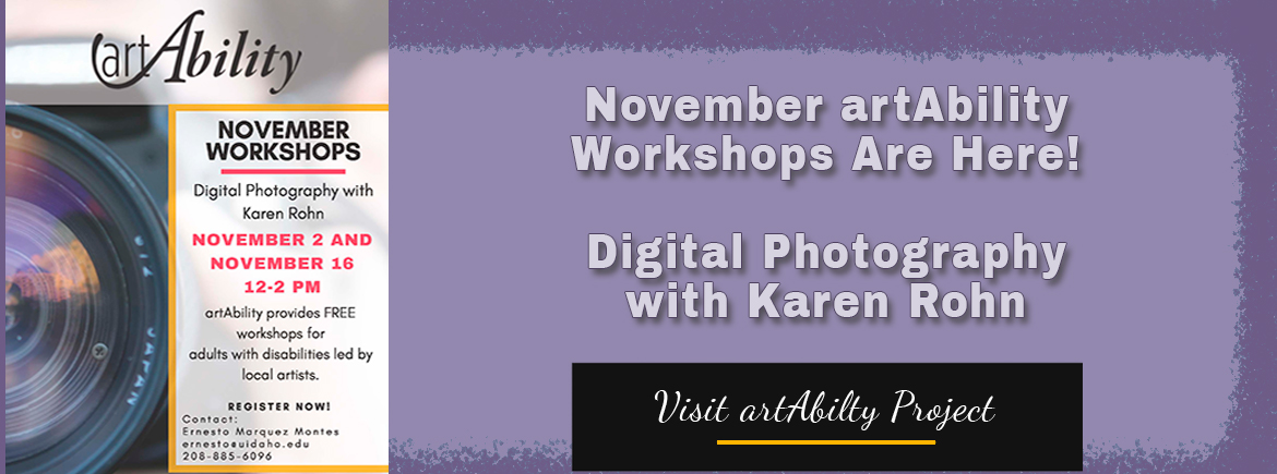 Register for fall artAbility workshops.