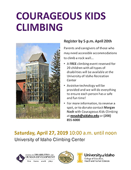 Courageous Kids Climbing | News & Events | Idaho SALN