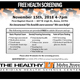 Attend the free November 15th community health screening in Boise at the First Baptist Church.