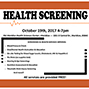 Attend the free October 19 community health screening in Meridian at the ISU Health Science Center.