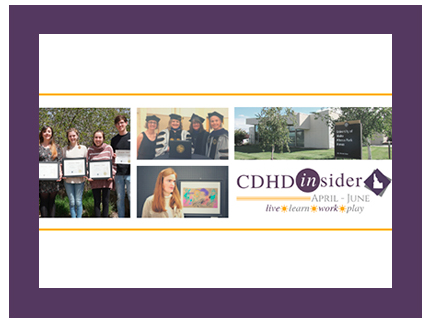Cover of the CDHD Insider newsletter from April through June 2019.