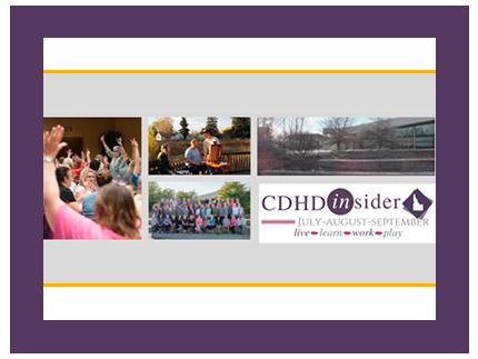 Cover of the CDHD Insider newsletter from July through September 2019.
