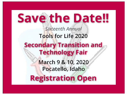 Save the Date for the 16th Annual Tools for Life in 2020.