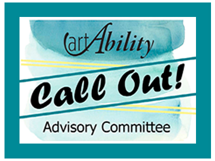 Recruiting flier for people to join the art Ability Advisory Committee.