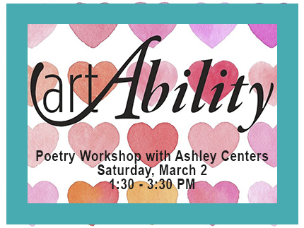 Register for the Poetry art Ability workshop on March 2, 2019.