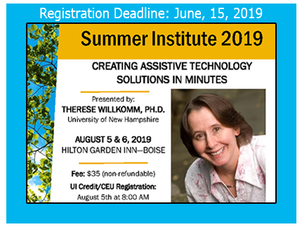 Register now for the Summer Institute 2019 workshop.