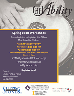 Announcing spring Art Ability percussion workshops for 2020 are available for registration.