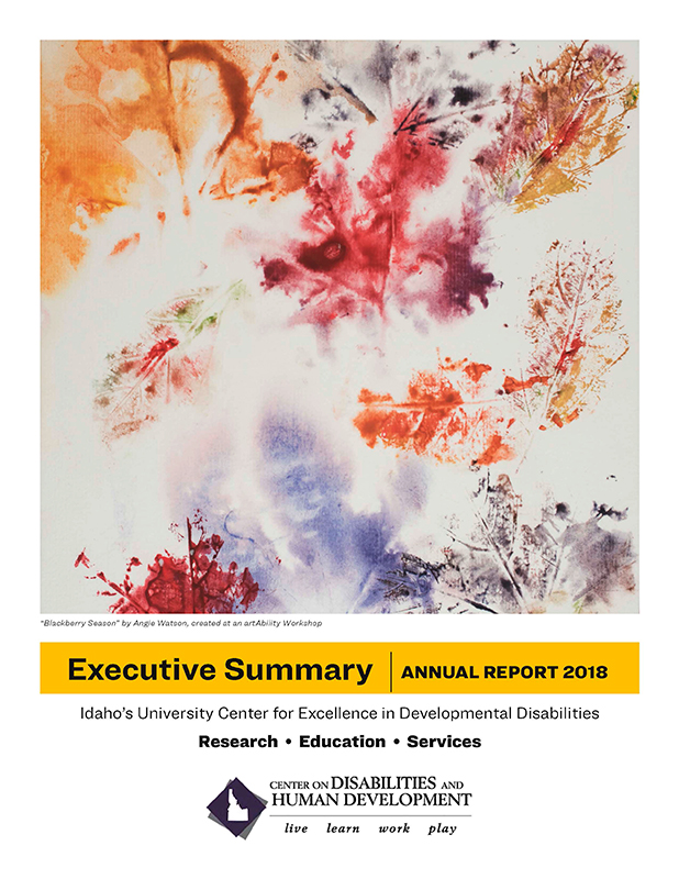 Cover page of 2018 CDHD Executive Summary Annual Report.