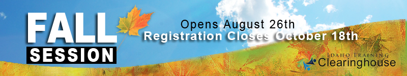 ITC Fall Session opens August 26th. Registrations closes October 18th.