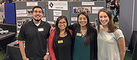 CDHD student trainees at the poster presentation for UI Bound program in fall 2018.