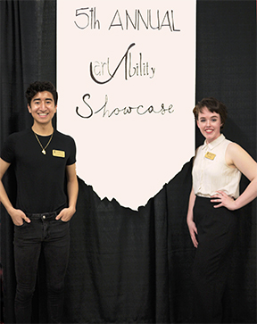 CDHD interns at the 2019 Art Ability Showcase.