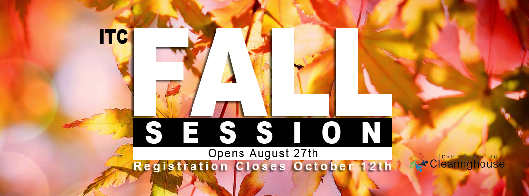 Fall Registration Opens August 27th.