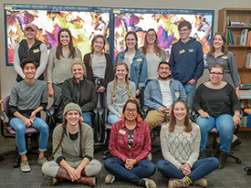 2018 interdisciplinary training students with Olivia Lebens, Interdisciplinary Training Coordinator.