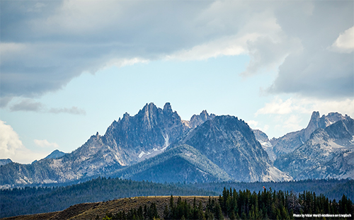 Idaho's Sawtooth mountains.